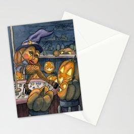 Pumpkin Stripper Stationery Cards
