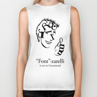 font Biker Tanks featuring 'Font'-zarelli by Christian Bailey