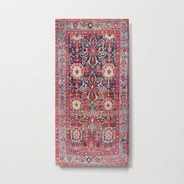 Bijar Kurdish Northwest Persian Rug Print Metal Print