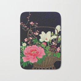 Ohara Koson Flower Basket Bath Mat