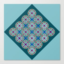 Prelude to Metatron (Turquoise) Canvas Print