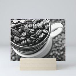 Coffee Beans Black and White Photography Mini Art Print