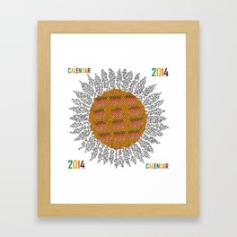 Calendar 2014 - Sunflower Framed Art Print