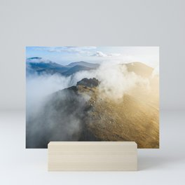 Aerial view of Mourne Mountains Mini Art Print