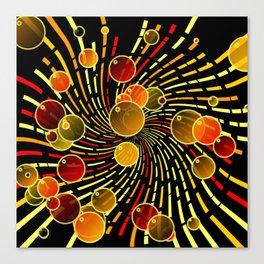 Bubbles and vortex Canvas Print
