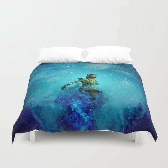 Fighter in the universe Duvet Cover