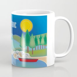 Lake Tahoe - Skyline Illustration by Loose Petals Coffee Mug