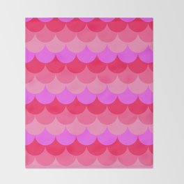 Scalloped Confetti in Neon Coral Reef Throw Blanket