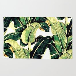 Tropical banana leaves Rug