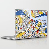 amsterdam Laptop & iPad Skins featuring Amsterdam by Mondrian Maps