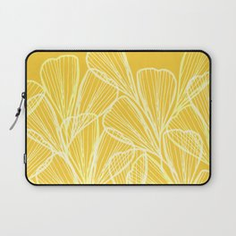Golden Yellow Flora Laptop Sleeve