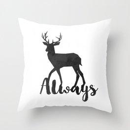 Always - black Throw Pillow