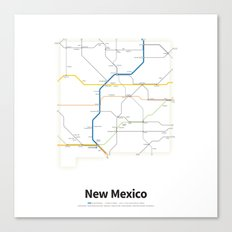 Highways of the USA – New Mexico Canvas Print