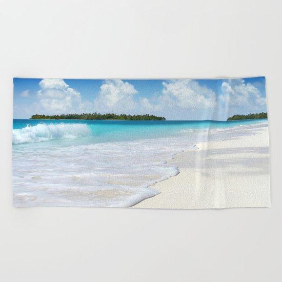 Paradise Ocean #waves Beach Towel