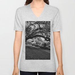 Treeful Cementery Unisex V-Neck