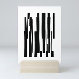 Organic No. 18 Black & White Graphic Art #minimalism #decor #society6 Mini Art Print