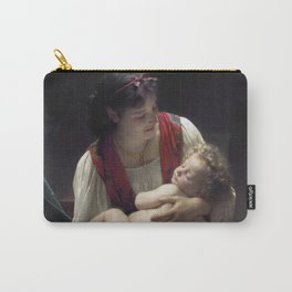 """William-Adolphe Bouguereau """"Berceuse (Le coucher)"""" Carry-All Pouch"""