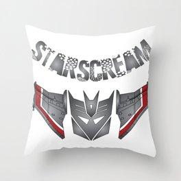 Starscream Decepticon logo Throw Pillow