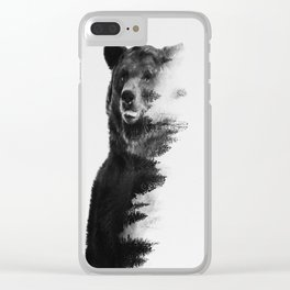 Observing Bear Clear iPhone Case