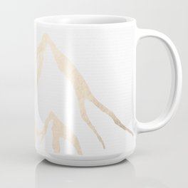 Adventure White Gold Mountains Coffee Mug