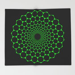 Heart's Geometry Throw Blanket