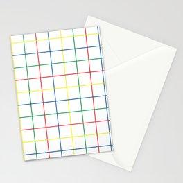 Primary Windowpane Grid Stationery Cards