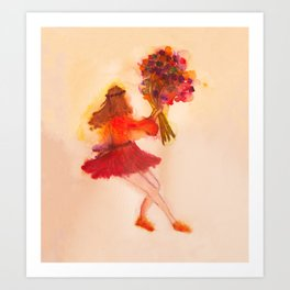 dancing whith flowers Art Print
