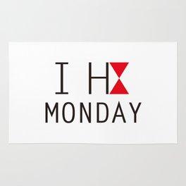 I H8 MONDAY 2 Rug