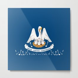 Musical Louisiana State Flag Metal Print