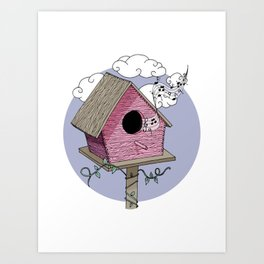 Bird's house: The Singer Art Print