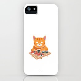 Kawaii Sushi Cat Eating Fastest Food iPhone Case