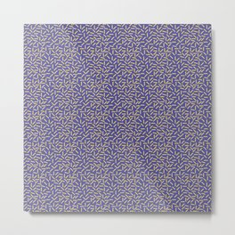 Memphis Style Purple Zigzag Metal Print
