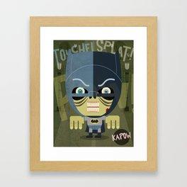 west kapow Framed Art Print