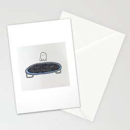 Trampoline Ghost Stationery Cards