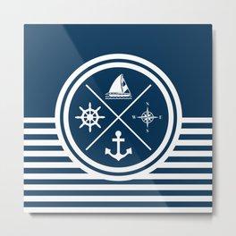 Sailing symbols Metal Print