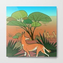 Ethiopian Wolf Metal Print