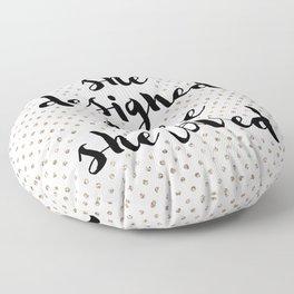 She Designed a Life She Loved Floor Pillow