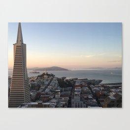 Transamerica Pyramid skyscraper view San Francisco Canvas Print