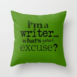 I'm a Writer Throw Pillow