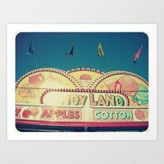 CandyLand ~ vintage-feel carnival Art Print