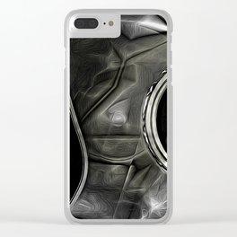 Dark Metal Clear iPhone Case
