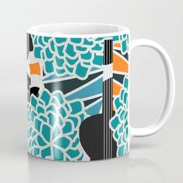 Guitars, flowers and leaves Coffee Mug