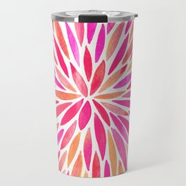Watercolor Burst – Pink Ombré Travel Mug