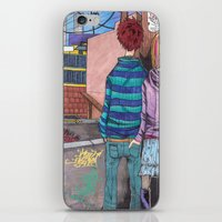joy division iPhone & iPod Skins featuring Let's dance to joy division by Diana Dypvik