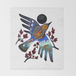 Life Cycles Throw Blanket