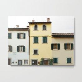 Pastel Apartments Metal Print