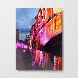 neon museum sunset Metal Print