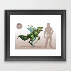 Pokemon-Scyther Framed Art Print