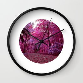 purple forest IV Wall Clock