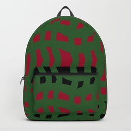 Christmas Plaid Green and Red Backpack